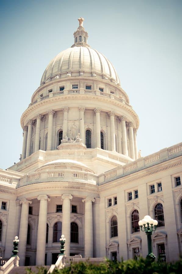 Het Capitool van de Staat van Wisconsin stock afbeeldingen