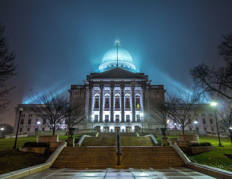 Het Capitool van de staat van Wisconsin royalty-vrije stock afbeelding