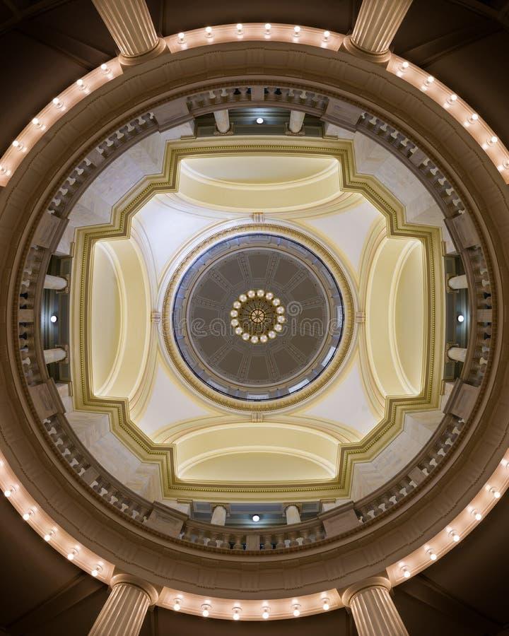 Het Capitoolkoepel van Arkansas stock afbeeldingen