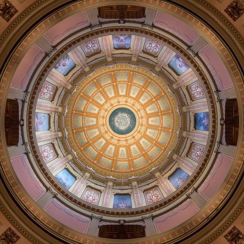 Het Capitoolkoepel van de Staat van Michigan royalty-vrije stock foto