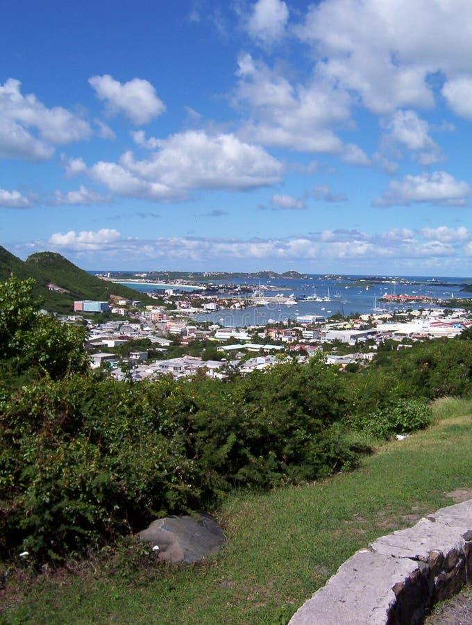 Het Caraïbische Dorp Van Het Eiland Royalty-vrije Stock Afbeeldingen