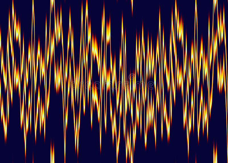 Het cardiogram van het brandhart op het monitorscherm royalty-vrije illustratie