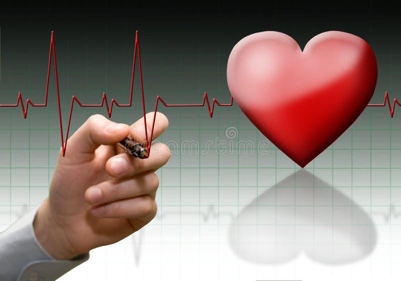 Het cardiogram van het hart. royalty-vrije stock foto