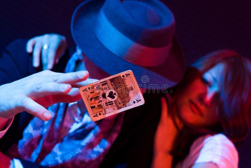 In het casino stock foto's