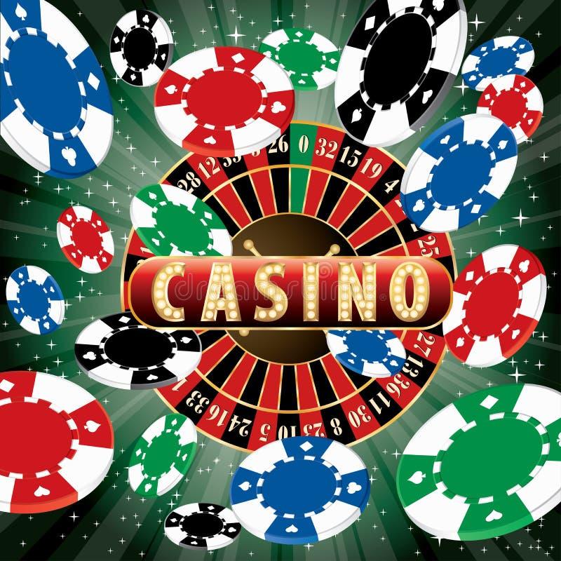 Het casino barstte spaanders stock illustratie