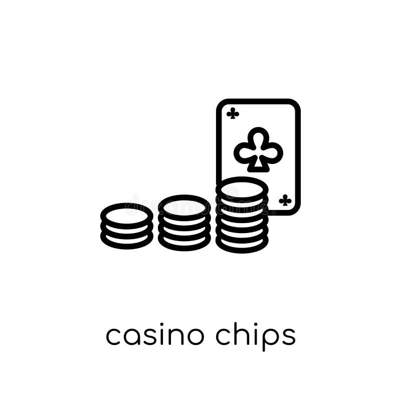 Het casino breekt pictogram af  royalty-vrije illustratie