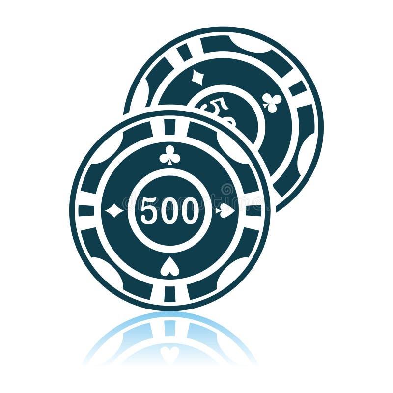 Het casino breekt pictogram af stock illustratie