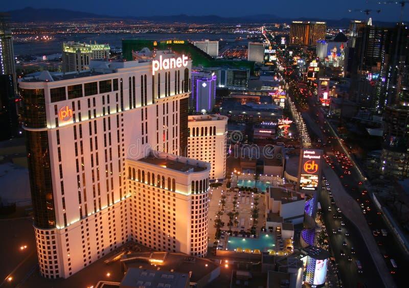 Het Casino Las Vegas Nevada van het Hotel van Hollywood van de planeet stock afbeelding