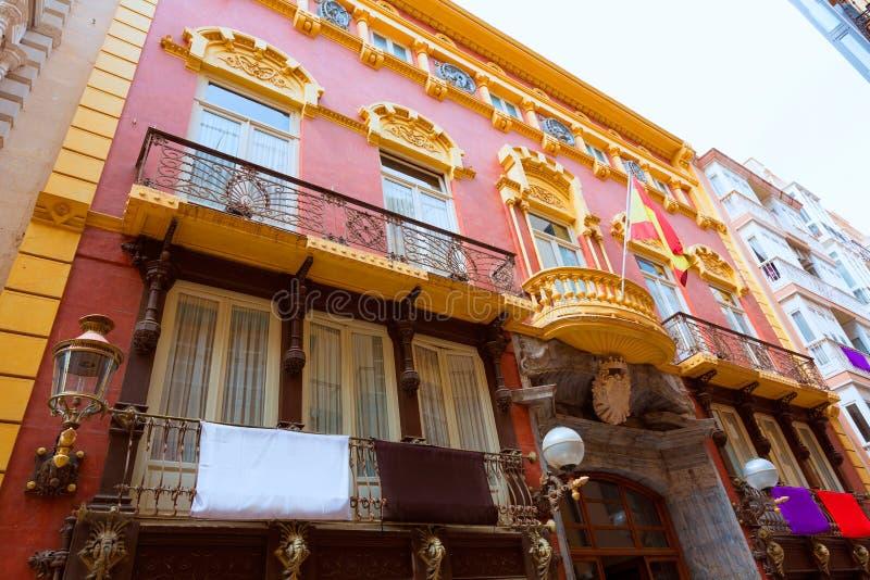 Het Casino Modernist architectuur van Cartagena in Spanje royalty-vrije stock foto