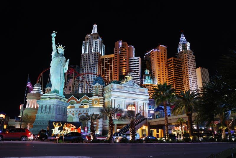 Het Casino van het Hotel van New York New York, Las Vegas. stock foto