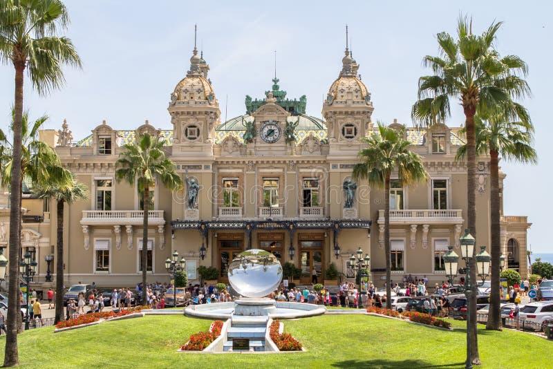 Het Casino van Monte Carlo in Monaco stock afbeelding