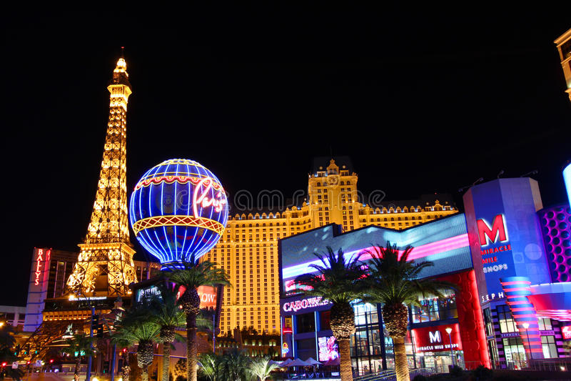 Het Casino van Parijs Las Vegas stock foto