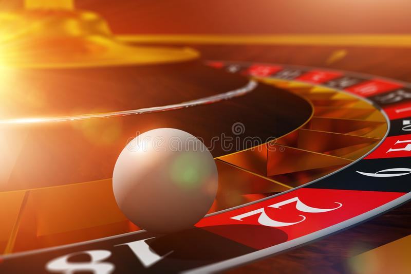 Het Casinospel van de roulettebal stock illustratie