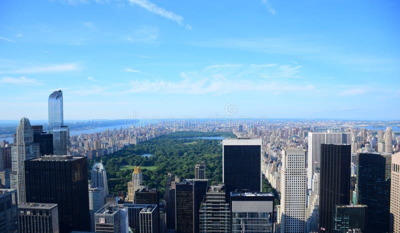 Het Central Park Luchtmening van New York stock afbeelding