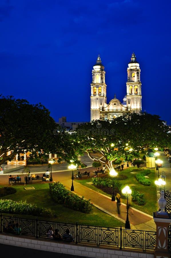 Het Central Park van Campeche royalty-vrije stock foto