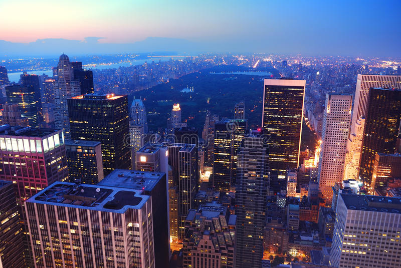 Het Central Park van de Stad van New York in Manhattan stock foto