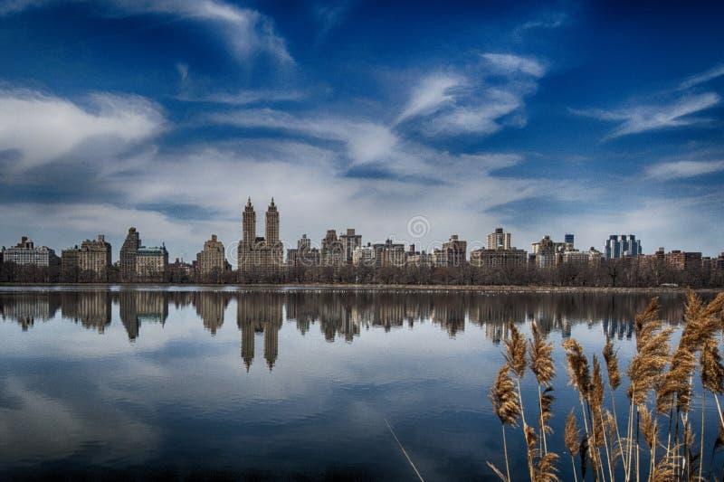 Het Central Park van New York stock afbeeldingen