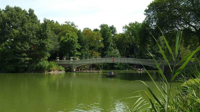 Het Central Parkbrug van New York stock foto's