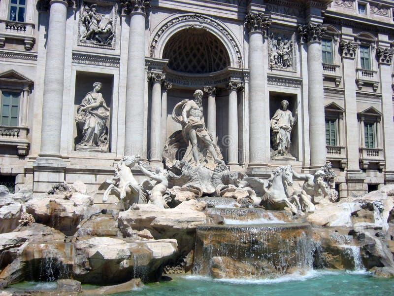Het Centrale deel van de beroemde Trevi fontein royalty-vrije stock foto