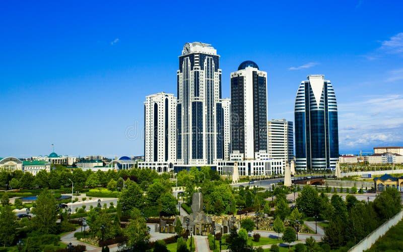 Het centrale deel van de stad van Grozny royalty-vrije stock foto