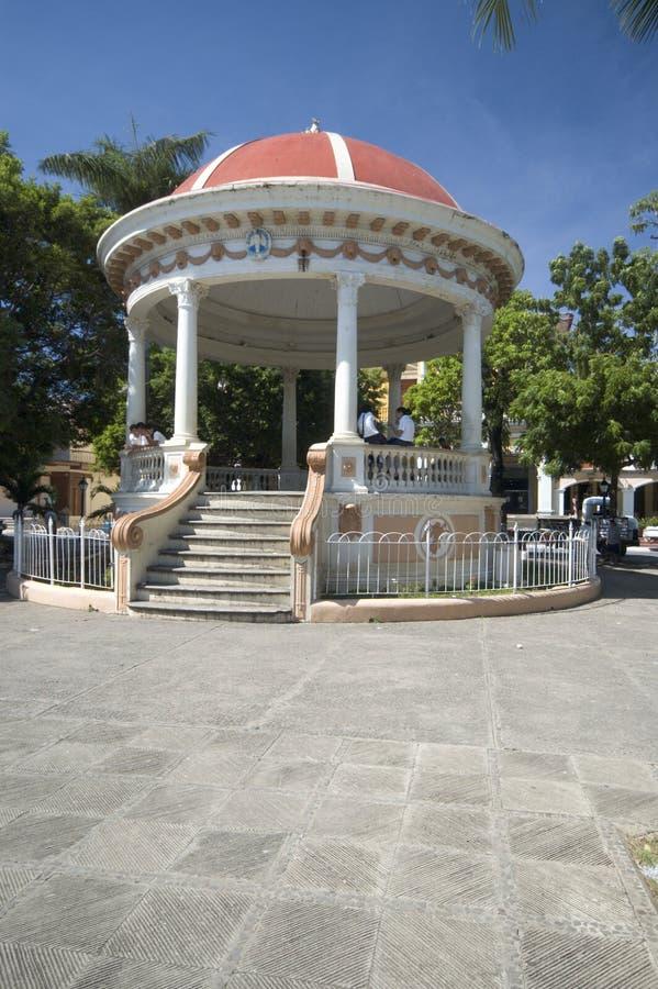 Het centrale park Granada Nicaragua van Gazebo royalty-vrije stock fotografie