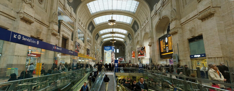 Het Centrale Station van Milaan stock foto