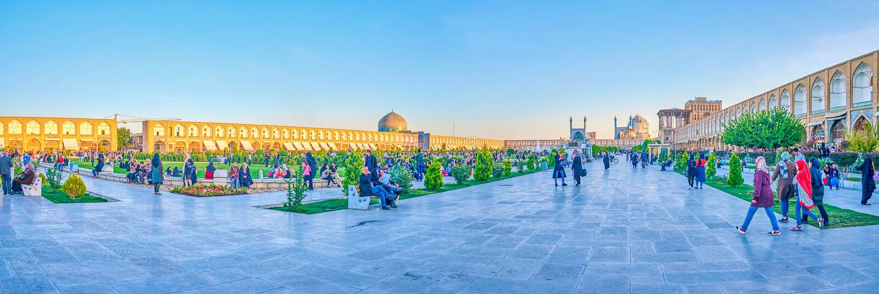Het centrale vierkant in Isphahan, Iran royalty-vrije stock foto's