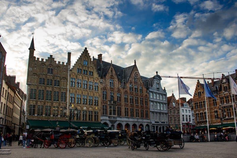 Het centrale vierkant van Brugge Markt royalty-vrije stock foto