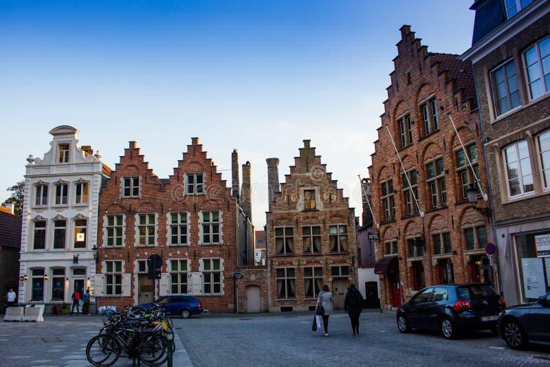 Het centrale vierkant van Brugge Markt royalty-vrije stock afbeeldingen