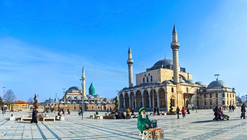 Het centrale vierkant van Konya stock afbeelding