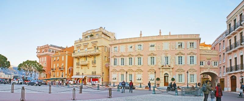 Het centrale vierkant van Monaco-Ville royalty-vrije stock foto's