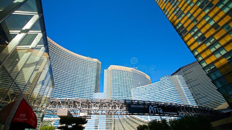 Het Centrum Kleinhandelsgebied van de kristallenstad in Las Vegas royalty-vrije stock afbeeldingen
