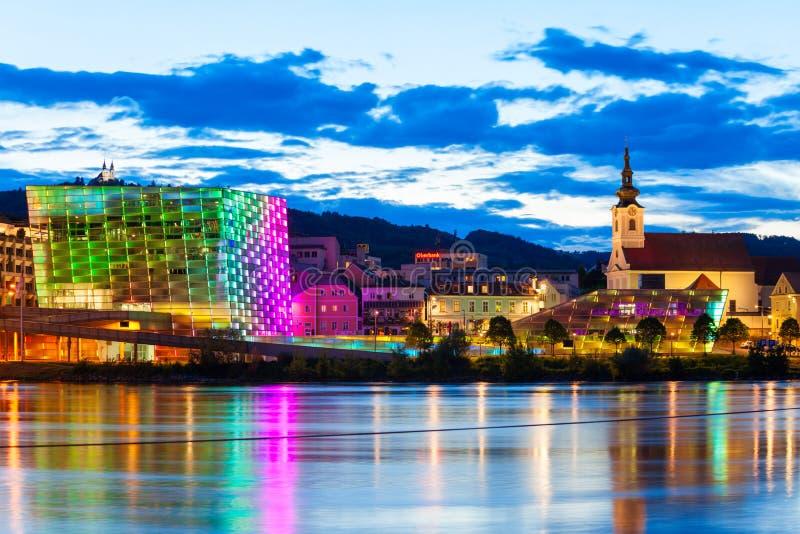Het Centrum van ARS Electronica, Linz royalty-vrije stock fotografie