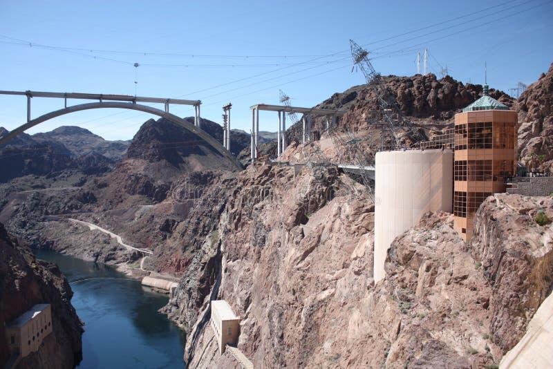 Het Centrum van de Bezoeker van de Dam van Hoover stock foto