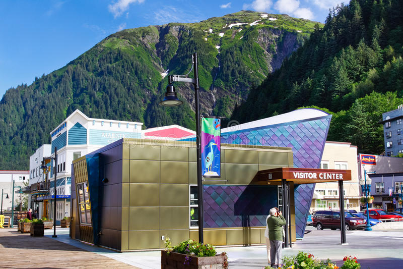 Het Centrum van de Bezoeker van het Schip van de Cruise Alaska - Juneau royalty-vrije stock fotografie