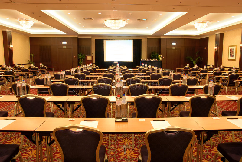 Het centrum van de conferentie