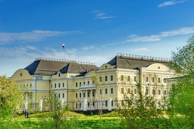 Het centrum van de Ekaterinburgstad van het vierde - grootste stad in de Gevolmachtigde van Rusland 2018 Representatief voor de V stock afbeelding