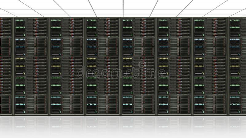 Het centrum van de gegevensserver vector illustratie