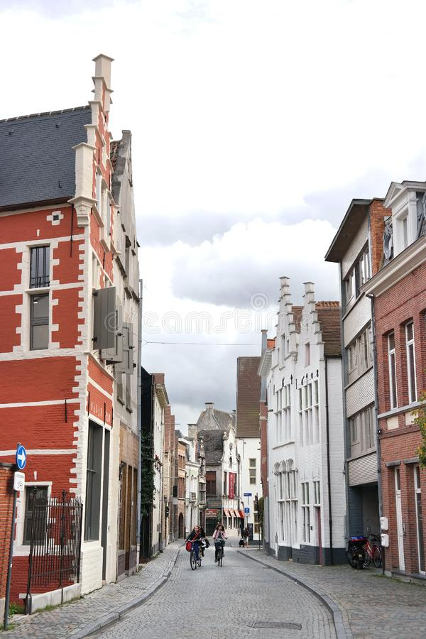 Het centrum van de Mechelenstad stock afbeelding