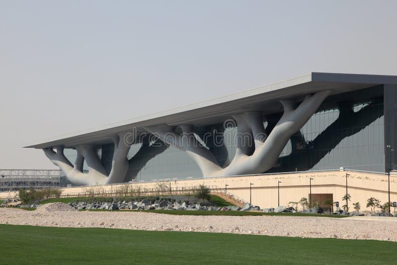 Het Centrum van de overeenkomst in Doha, Qatar stock foto's