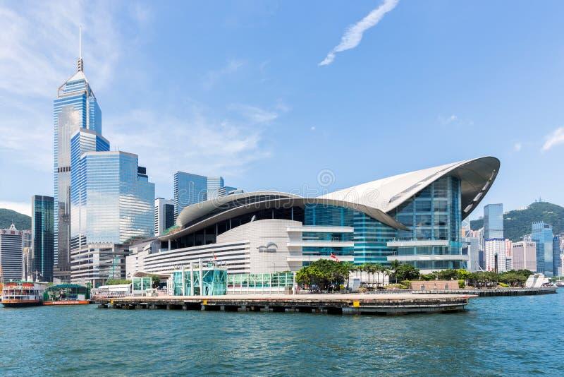Het Centrum van de Overeenkomst en van de Tentoonstelling van Hongkong stock fotografie