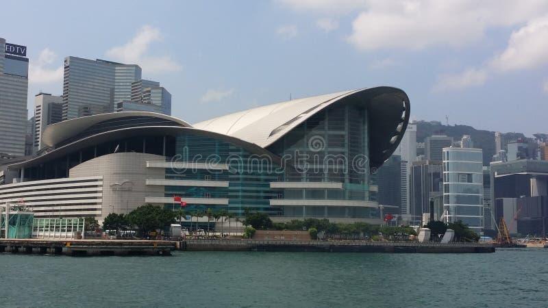 Het Centrum van de Overeenkomst & van de Tentoonstelling van Hongkong stock afbeelding