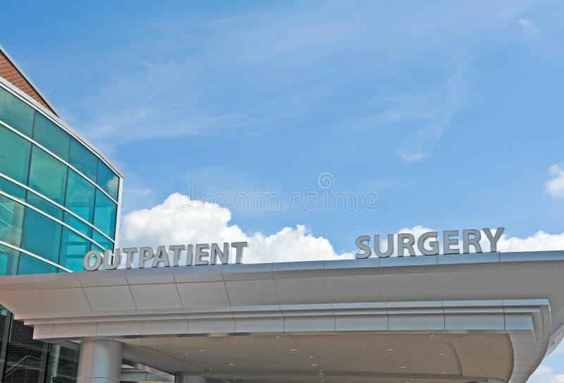 Het Centrum van de poliklinische patiëntchirurgie stock foto's
