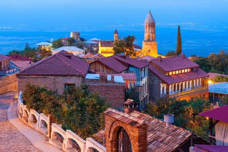 Het centrum van de Sighnaghistad royalty-vrije stock foto