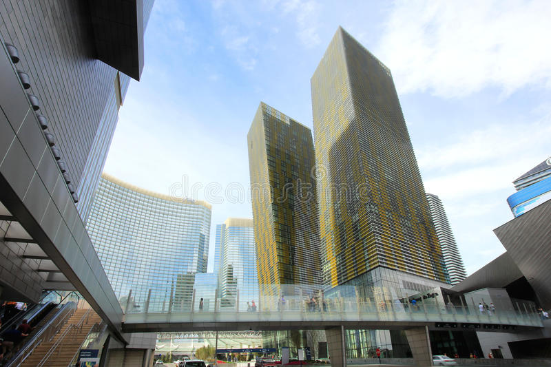 het centrum van de Stad dat in Las Vegas wordt genomen stock fotografie
