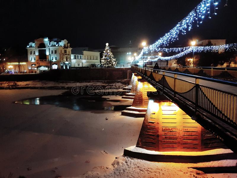 Het centrum van de Uzhgorodstad, de Oekraïne royalty-vrije stock foto