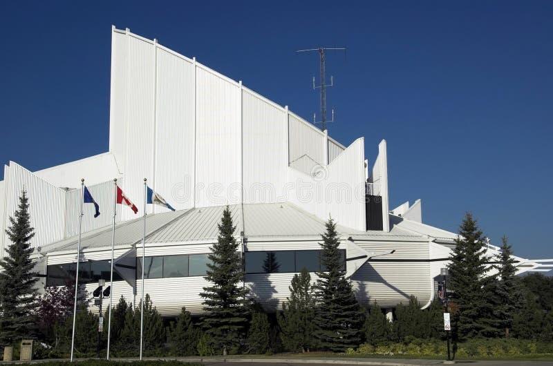 Het centrum van de Wetenschap van Edmonton stock afbeeldingen