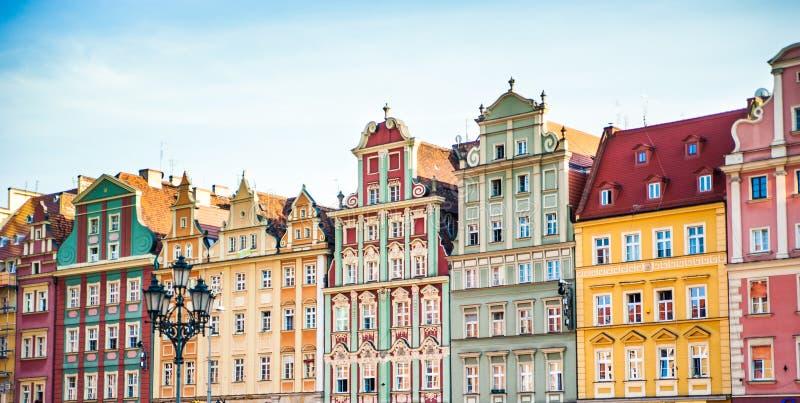 Het centrum van de Wroclawstad, stock foto's