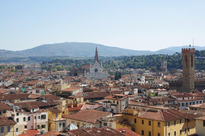 Het centrum van Florence stock afbeelding