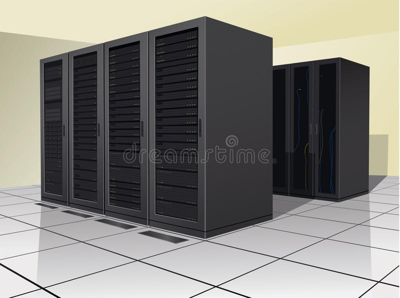 Het Centrum van gegevens stock illustratie